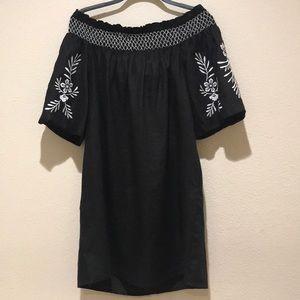 Vince Camuto  Dress BOHO stitch off shoulder large